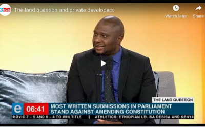 The land question and private developers